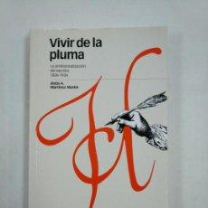 Libros de segunda mano: VIVIR DE LA PLUMA. LA PROFESIONALIZACION DEL ESCRITOR. 1836-1936. JESUS A. MARTINEZ MARTIN. TDK365. Lote 151305418