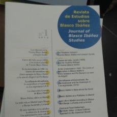 Libros de segunda mano: REVISTA DE ESTUDIOS SOBRE BLASCO IBÁÑEZ. 4 VOL. AJUNTAMENT. VALENCIA, 2012. Lote 156389006