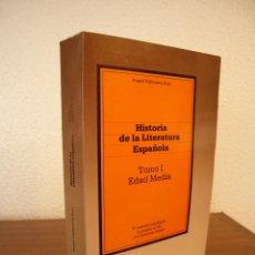 Libros de segunda mano: ÁNGEL VALBUENA PRAT & ANTONIO PRIETO: HISTORIA DE LA LITERATURA ESPAÑOLA, I: EDAD MEDIA (1981). Lote 184773760