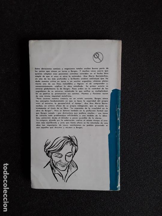 Libros de segunda mano: Barrenechea, Ana María. La expresión de la irrealidad en la obra de Borges. Buen estudio. - Foto 3 - 155753014