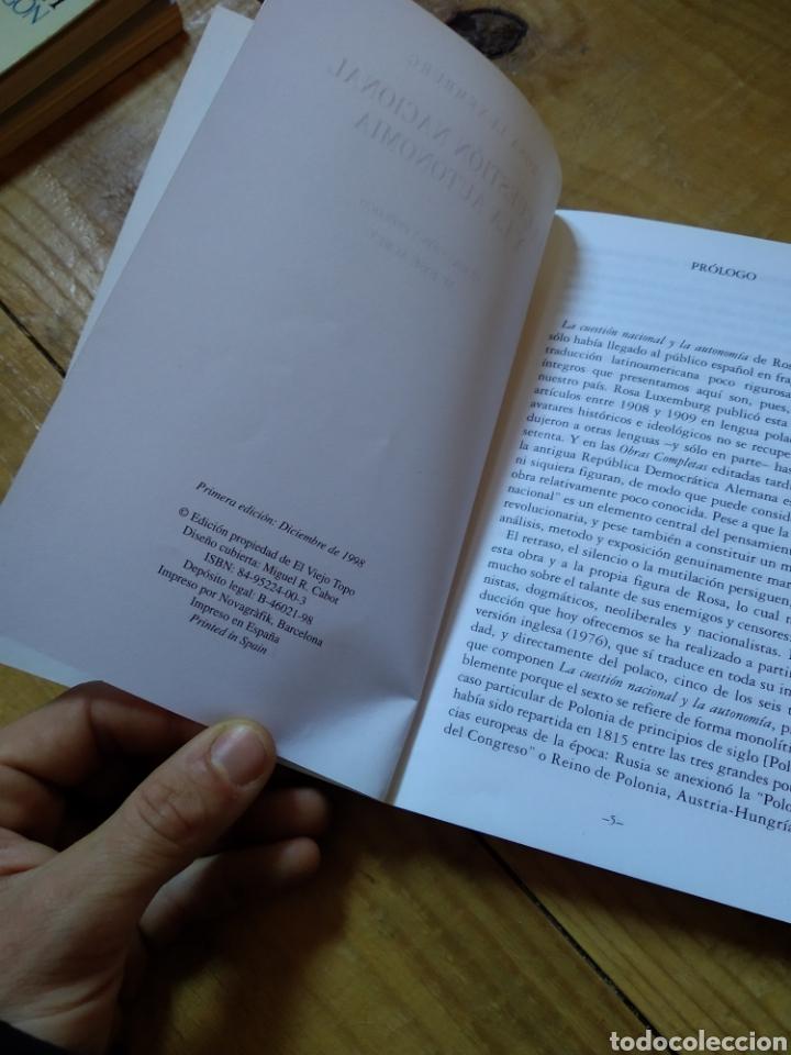 Libros de segunda mano: LA CUESTIÓN NACIONAL. ROSA LUXEMBURG - Foto 3 - 156871192