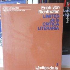 Livros em segunda mão: LIMITES DE LA CRITICA LITERARIA. Lote 158697094