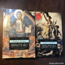Libros de segunda mano: HISTORIA SOCIAL DE LA LITERATURA Y EL ARTE. 2 VOL - ARNOLD HAUSER. Lote 158660290