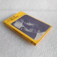 Libros de segunda mano: SHIRLEY MANGINI GONZÁLEZ: GIL DE BIEDMA. COL. LOS POETAS Nº 24. JÚCAR. Lote 160401694