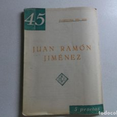 Libros de segunda mano: FLORENTINA DEL MAR (CARMEN CONDE) : JUAN RAMÓN JIMÉNEZ (BILBAO, C. 1950). Lote 161721582