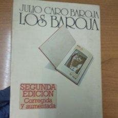 Libros de segunda mano: JULIO CARO BAROJA. LOS BAROJA. Lote 161958922