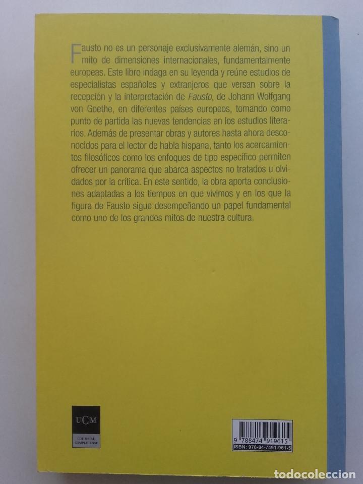 Libros de segunda mano: FAUSTO EN EUROPA. VISIONES DE LOS DEMONIOS Y EL HUMOR FAÚSTICO. UNIVERSIDAD COMPLUTENSE - Foto 2 - 162457082