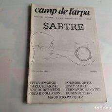 Libros de segunda mano: CAMP DE L´ARPA Nº 84 - 85 SARTRE - REVISTAS DE LITERATURA. Lote 165635838