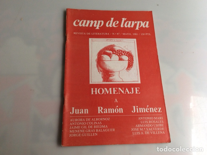 CAMP DE L´ARPA Nº 87-MAYO 1981, HOMENAJE A JUAN RAMON JIMÉNEZ - REVISTAS DE LITERATURA (Libros de Segunda Mano (posteriores a 1936) - Literatura - Ensayo)