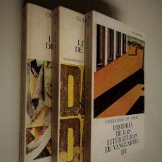 Libros de segunda mano: HISTORIA DE LAS LITERATURAS DE VANGUARDIAS (3 TOMOS)   GUILLERMO DE TORRERE   GUADARRAMA 1971. Lote 166035422