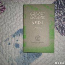 Libros de segunda mano: ÁMIEL;GREGORIO MARAÑÓN;ESPASA-CALPE 1995. Lote 166801250