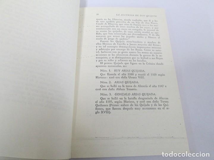 Libros de segunda mano: CESAR DE MEDINA BOCOS. LA ALCURNIA DE DON QUIJOTE. TALLERES GRAFICOS CERES. - Foto 10 - 167910668