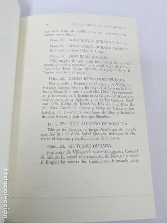 Libros de segunda mano: CESAR DE MEDINA BOCOS. LA ALCURNIA DE DON QUIJOTE. TALLERES GRAFICOS CERES. - Foto 12 - 167910668