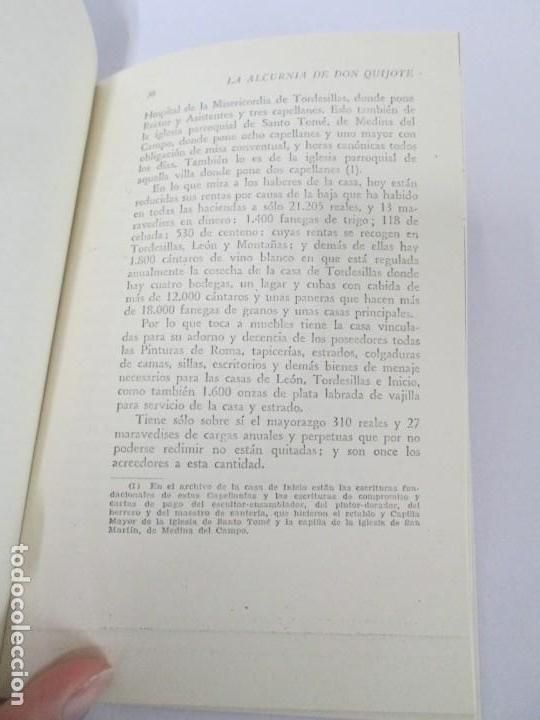Libros de segunda mano: CESAR DE MEDINA BOCOS. LA ALCURNIA DE DON QUIJOTE. TALLERES GRAFICOS CERES. - Foto 14 - 167910668