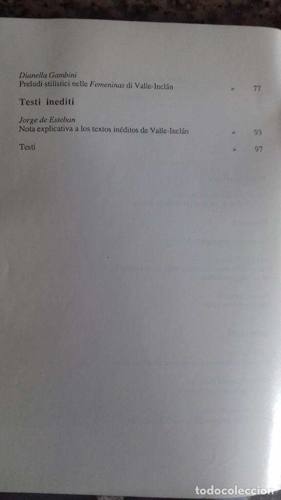 Libros de segunda mano: Homenaje a Don Ramón del Valle-Inclán. Varios autores. Universitá degli Studi di Perugia/ UNED. 1985 - Foto 3 - 44362181