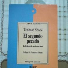 Libros de segunda mano: EL SEGUNDO PECADO - THOMAS SZASZ. Lote 170020712
