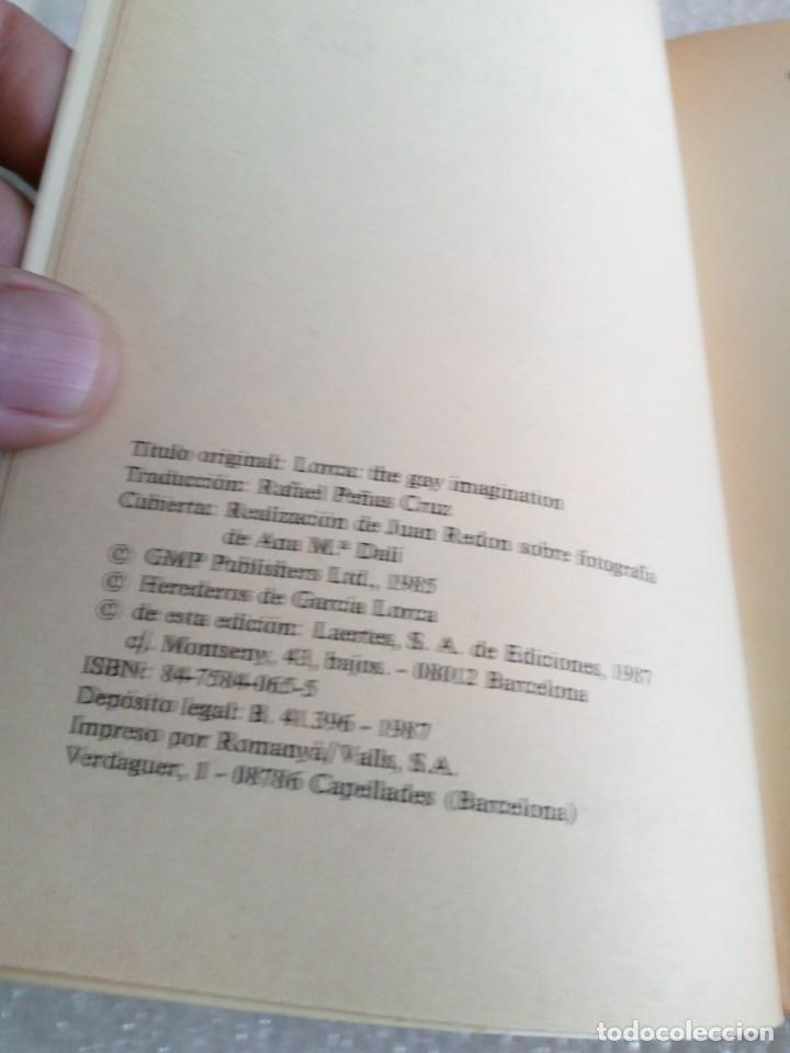 Libros de segunda mano: GARCIA LORCA O LA IMAGINACION GAY. SU OBRA Y SENSIBILIDAD HOMOSEXUAL - PAUL BINDING - 1987 - 1ª EDIC - Foto 3 - 170646370
