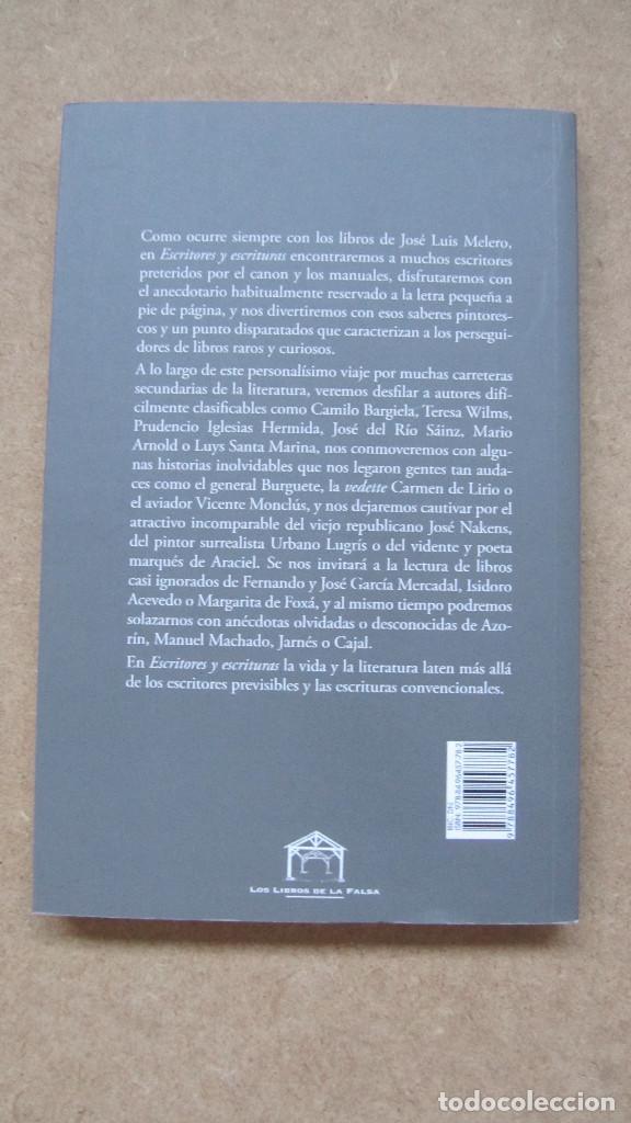 Libros de segunda mano: ESCRITORES Y ESCRITURAS José Luis Melero Xordica - Foto 2 - 172102879