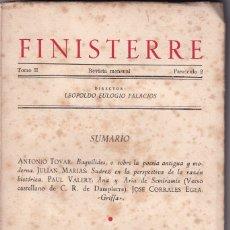 Libros de segunda mano: FINISTERRE. REVISTA MENSUAL. TOMO II, FASC. 2. JUNIO 1948. PAUL VALERY. CORRALES EGEA. TOVAR. Lote 172137572