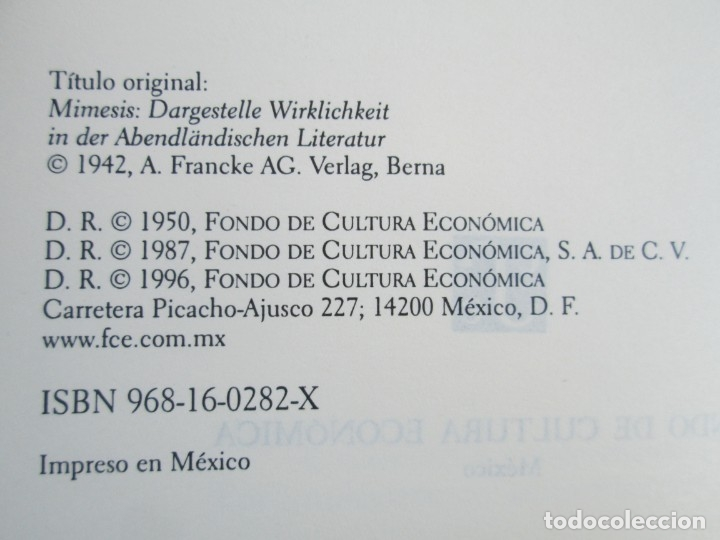 Libros de segunda mano: MIMESIS. ERICH AUERBACH. FONDO DE CULTURA ECONOMICA. 1996. VER FOTOGRAFIAS ADJUNTAS - Foto 8 - 172706194