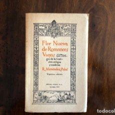 Libros de segunda mano: FLOR NUEVA DE ROMANCES VIEJOS. MENÉNDEZ PIDAL. ESPASA-CALPE 1965. POESIA. MEDIEVAL.. Lote 174107070