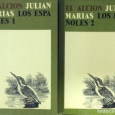 Libros de segunda mano: LOS ESPAÑOLES - 2 VOLS. - JULIÁN MARÍAS. Lote 176040923