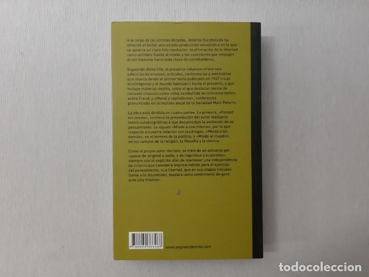 Libros de segunda mano: Frente al miedo por Antonio Escohotado (2015) - Escohotado, Antonio - Foto 4 - 176242139