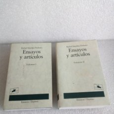 Libros de segunda mano: RAFAEL SÁNCHEZ FERLOSIO. ENSAYOS Y ARTÍCULOS. 2 TOMOS. EDITORIAL DESTINO SIN LEER STOCK LIBRERIA. Lote 176662908