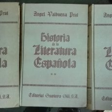 Libros de segunda mano: ÁNGEL VALBUENA PRAT. HISTORIA DE LA LITERATURA ESPAÑOLA. 1950. Lote 177598162