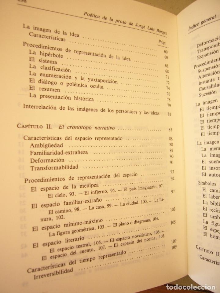 Libros de segunda mano: ALBERTO JULIÁN PÉREZ: POÉTICA DE LA PROSA DE JORGE LUIS BORGES (GREDOS, 1986) - Foto 7 - 177670357