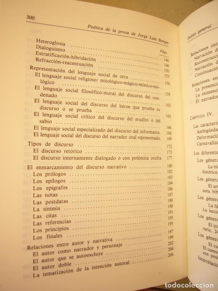 Libros de segunda mano: ALBERTO JULIÁN PÉREZ: POÉTICA DE LA PROSA DE JORGE LUIS BORGES (GREDOS, 1986) - Foto 9 - 177670357