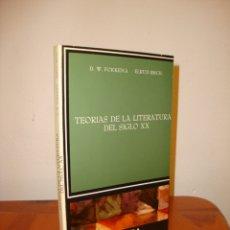 Libros de segunda mano: TEORÍAS DE LA LITERATURA DEL SIGLO XX - D. W. FOKKEMA, ELRUD IBSCH - CATEDRA, MUY BUEN ESTADO. Lote 179716547