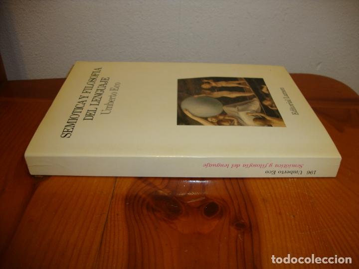 Libros de segunda mano: SEMIÓTICA Y FILOSOFÍA DEL LENGUAJE - UMBERTO ECO - LUMEN, MUY BUEN ESTADO - Foto 2 - 180038977