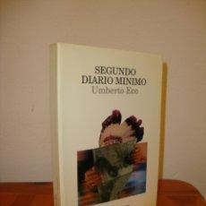 Libros de segunda mano: SEGUNDO DIARIO MÍNIMO - UMBERTO ECO - LUMEN, MUY BUEN ESTADO. Lote 180076768