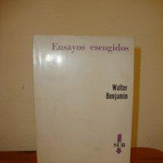 Libros de segunda mano: ENSAYOS ESCOGIDOS - WALTER BENJAMIN - EDICIONES SUR. Lote 180093813