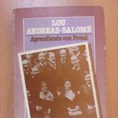 Libros de segunda mano: APRENDIENDO CON FREUD. DIARIO DE UN AÑO 1912-1913 / LOU ANDREAS-SALOMÉ / LAERTES. 1978. Lote 180325892