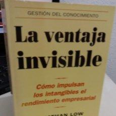 Libros de segunda mano: LA VENTAJA INVISIBLE. CÓMO IMPULSAN LOS INTANGIBLES EL RENDIMIENTO EMPRESARIAL - LOW / COHEN K.. Lote 180971826