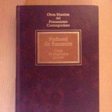 Libros de segunda mano: CURSO DE LINGÜÍSTICA GENERAL / FERDINAD DE SAUSSURE / 1992. OBRAS MAESTRAS DEL PENSAMIENTO.... Lote 181357340