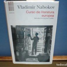 Libros de segunda mano: CURSO DE LITERATURA EUROPEA. VLADIMIR NABOKOV. RBA LIBROS, 2012.. Lote 182070258