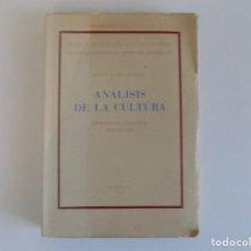 Libros de segunda mano: LIBRERIA GHOTICA. JULIO CARO BAROJA. ANÁLISIS DE LA CULTURA.ETNOLOGIA-HISTORIA-FOLKLORE.1949.. Lote 183435063