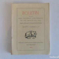 Libros de segunda mano: LIBRERIA GHOTICA. BOLETÍN DE LA REAL SOCIEDAD VASCONGADA DE LOS AMIGOS DEL PAIS.1970.. Lote 183435238