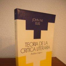 Libros de segunda mano: JOHN M. ELLIS: TEORÍA DE LA CRÍTICA LITERARIA (TAURUS, 1988) EXCELENTE ESTADO. Lote 184196031