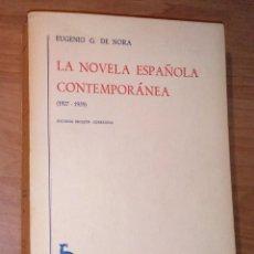 Libros de segunda mano: EUGENIO G. DE NORA - LA NOVELA ESPAÑOLA CONTEMPORÁNEA, II (1927-1939) - GREDOS, 1968. Lote 187226182