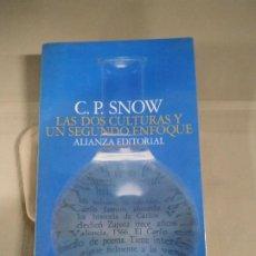 Libros de segunda mano: LAS DOS CULTURAS Y UN SEGUNDO ENFOQUE - C. P. SNOW. ALIANZA. Lote 188779642