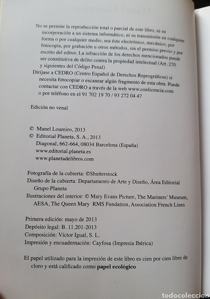 Libros de segunda mano: BIENVENIDOS AL VALKIRIE. VALKIRIA. MANEL LOUREIRO. PLANETA. 2013. CRUCEROS - Foto 3 - 190052325