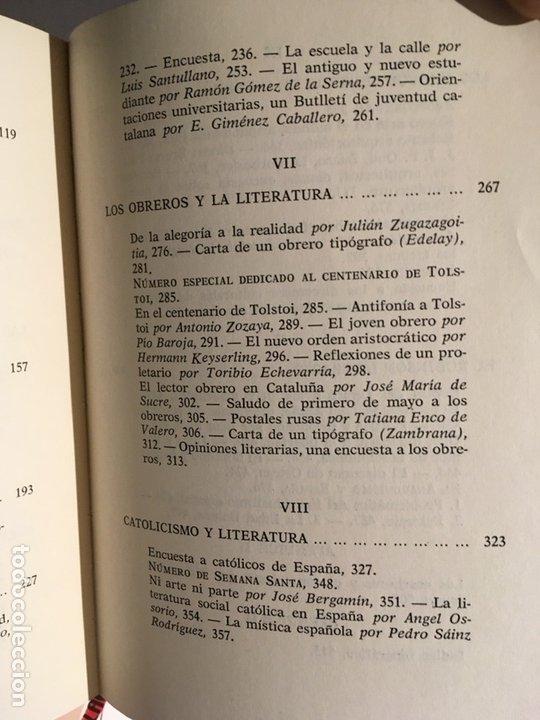 Libros de segunda mano: LA IDEOLOGIA DE LOS ESCRITORES - LITERATURA Y POLITICA EN GACETA LITERARIA (1927 - 1932) - BASSOLAS - Foto 7 - 86258400