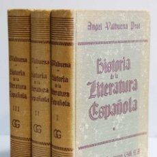 Libros de segunda mano: HISTORIA DE LA LITERATURA ESPAÑOLA. 3 TOMOS - ANGEL VALBUENA PRAT. Lote 53503794