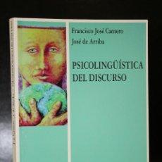 Libros de segunda mano: PSICOLINGÜÍSTICA DEL DISCURSO.. Lote 194619895
