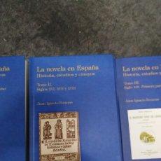 Libros de segunda mano: LA NOVELA EN ESPAÑA. HISTORIA, ESTUDIOS Y ENSAYOS TOMO II. SIGLOS XVI, XVII, XVIII. Lote 194665376