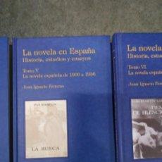 Libros de segunda mano: LA NOVELA EN ESPAÑA. HISTORIA, ESTUDIOS Y ENSAYOS TOMO V. NOVELA ESPAÑOLA DE 1900 A 1936. Lote 194665986